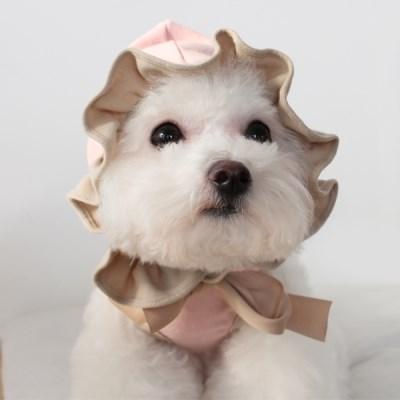 [T.프릴리본후드]Frill ribbon hood_Pink