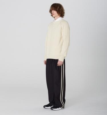 [디바이디그낙] 2 Line Wide Pants BK