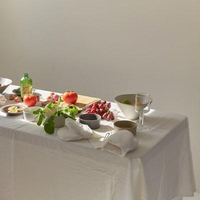 코르 [광목] 식탁보 화이트