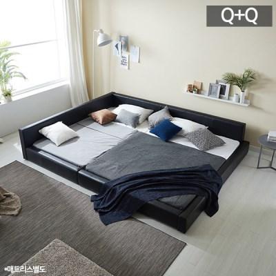 모던라운지 퀸+퀸 패밀리 침대(매트리스별도)_(11513581)