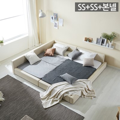 모던라운지 슈퍼싱글+슈퍼싱글 패밀리 침대+본넬매트리_(11513574)
