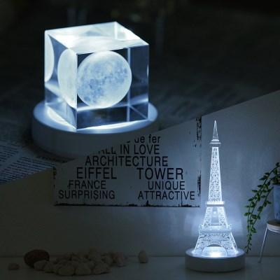 누름식 LED 받침조명 (백색케이스/백색)