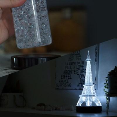 누름식 LED 받침조명 (검정케이스/백색)