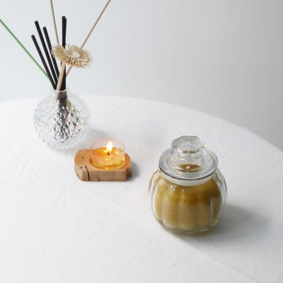 [Honey Bees Candle] 호박 밀랍초