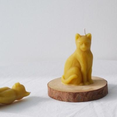 [Honey Bees Candle] 고양이 밀랍초