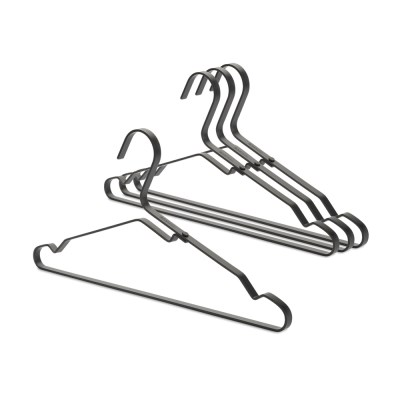 [브라반티아] LINN(린) 알루미늄 옷걸이 4P 세트 - 블랙