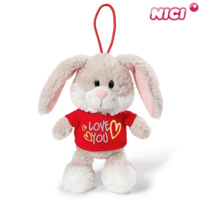 니키 러브유 티셔츠 래빗 가방고리 15cm40182 토끼