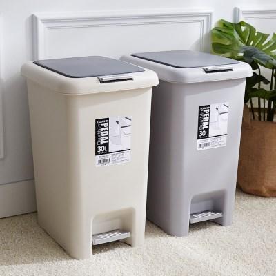 클린업 페달 휴지통 30L+분리수거 비닐봉투 50L 20매입