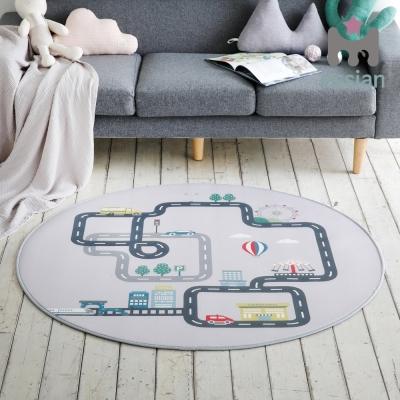 에시앙 자동차 플레이 도로매트 놀이매트 (원형)