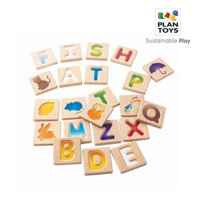 플랜토이즈 원목교구 학습완구 알파벳 입체 퍼즐 5637_(1560856)