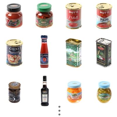 미니어쳐로 만나는 이탈리아 요리여행-소스&디저트_(638411)