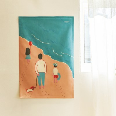 바다 일러스트 패브릭 포스터 / 가리개 커튼