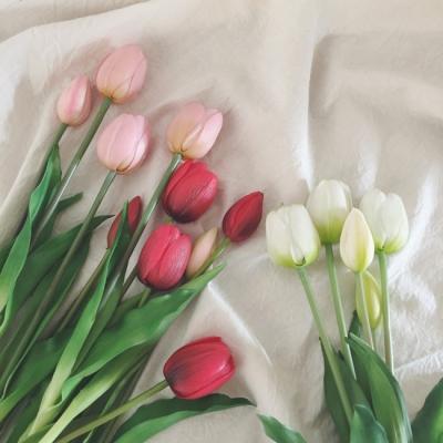 봄 인테리어 튤립조화 (3컬러)