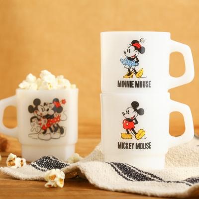 [디즈니] 미키&미니 마우스 커플 크림글라스 2set