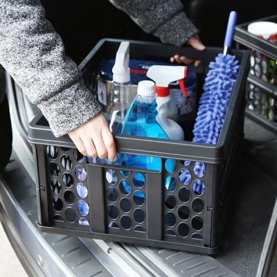 자동차 트렁크 정리 공간활용 튼튼한 다용도 폴딩박스_(965192)