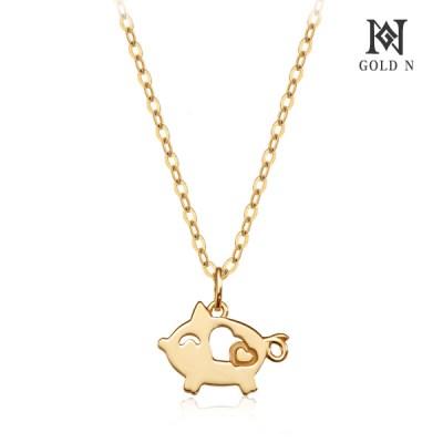 골드앤 18K 사랑주는 돼지 목걸이 YG_(1820385)