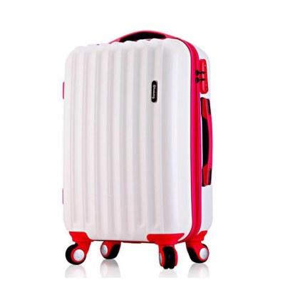 [스크래치] 토부그 TBG226 화이트 20형 기내용 캐리어 여행가방