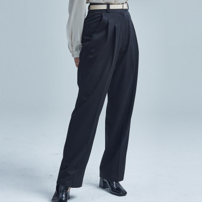RUMOR TWIN PINTUCK SLACKS BLACK