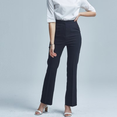 SIMPLE BOOTCUT SLACKS_SS BLACK