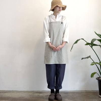 pin stripe short apron