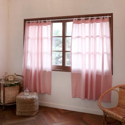 러블리 핑크 린넨 창문 가리개 커튼_(1217859)