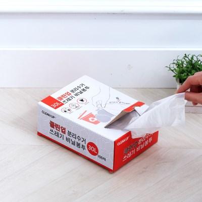 클린업 분리수거 쓰레기 비닐봉투_30L(100매)