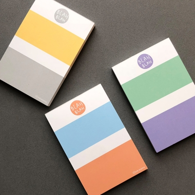 color block memo pad