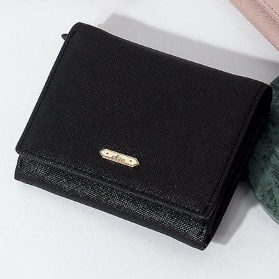 시그니처 반지갑 어텀브리즈 에디션 블랙 반지갑 CLAB18922SBP