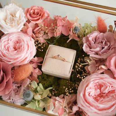 POSH GOLD FLOWER RING BOX
