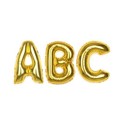알파벳 은박풍선 (소) 골드