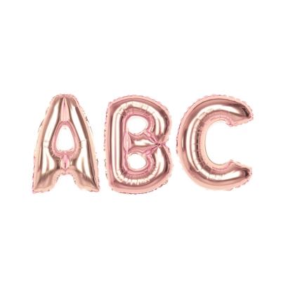 알파벳 은박풍선 (소) 로즈골드