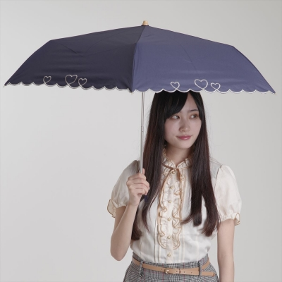 [PARASOL] sun shade heart scallop mini  (양산/우산 겸용)