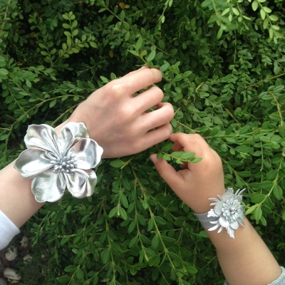 Glitter Bracelet & Hairband (반짝이는 파티 꽃 팔찌&헤어밴드)