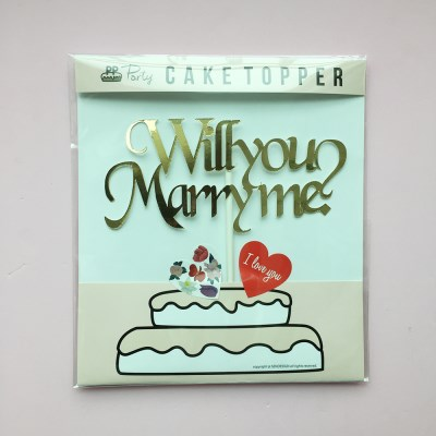 PP CAKE TOPPER - WILL YOU MARRY ME (VER.1)