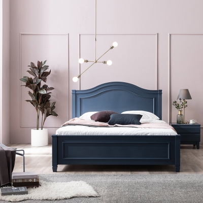 SB186-Q 프랜치 시리즈 원목 퀸 침대