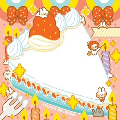 딸기 생크림 한조각 메모패드