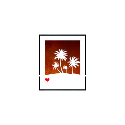 블랭코 스텐실도안602 사진프레임 야자나무