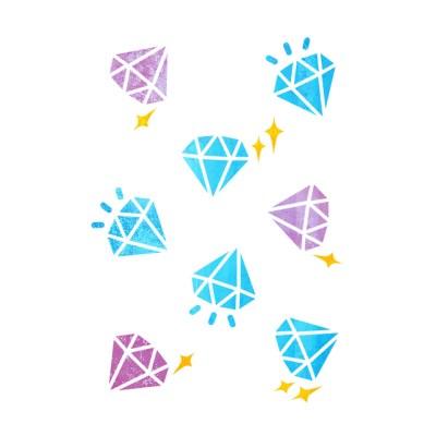 블랭코 스텐실도안521 다이아몬드 패턴