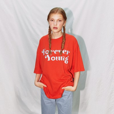 FOREVER YOUNG T-SHIRT_RED (EEON2RSR02W)