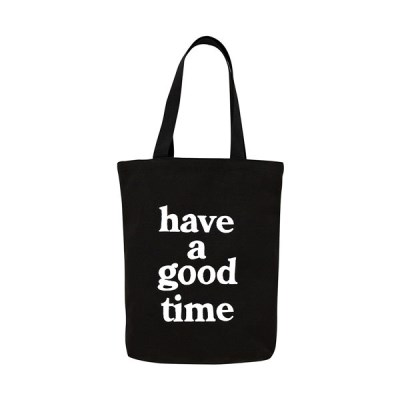 [HAVE A GOOD TIME]LOGO TOTE BAG_BLACK