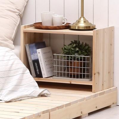 침대미니협탁 원목 침실가구 책꽂이 테이블(삼나무)