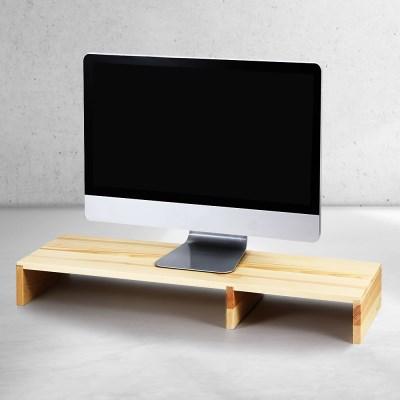 소나무 원목 수납 컴퓨터 모니터받침대 HDM-805