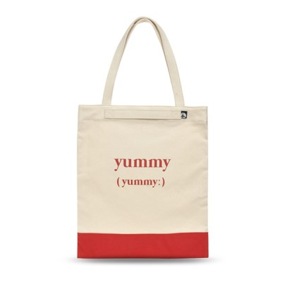 [비아모노] PLAYFUL CANVAS ECOBAG (RED)_(982985)