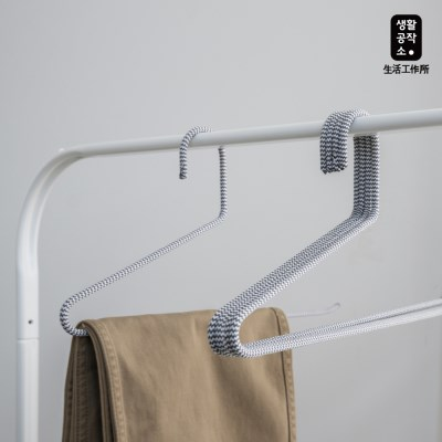 [생활공작소] 패브릭 바지걸이 3입 x 2세트