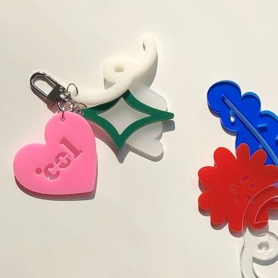 Shape of Col's Love Keyring