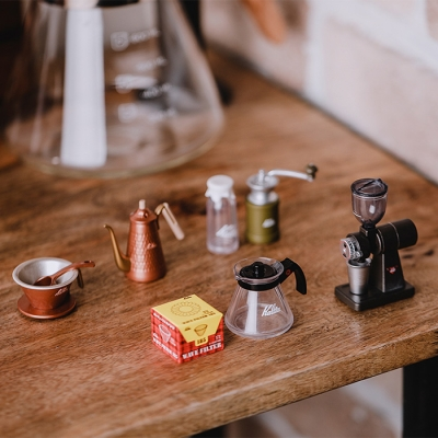 칼리타 커피 용품 미니어처 5종 세트_(643357)