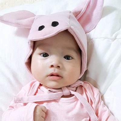 [유호랑]돼지보넷-신생아선물추천