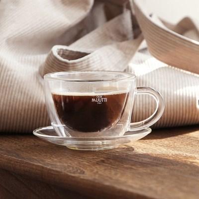 까사무띠 네로 내열 이중유리 커피잔2P set_(1533791)