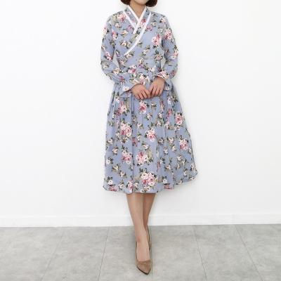 줄리엣 생활한복 허리치마(블루)