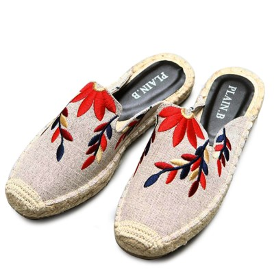 kami et muse Embroidery espadrille slippers _KM19s059